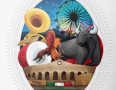 Cartel para la Feria Nacional Zacatecas 2013
