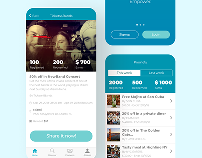 UI/UX & Brand for Promoty