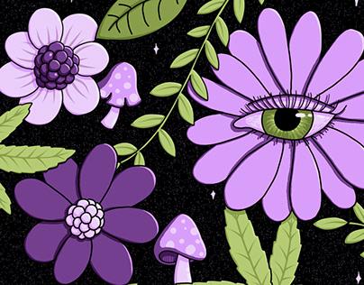 Flores y miradas