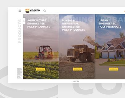 Coerco - website redesign concept