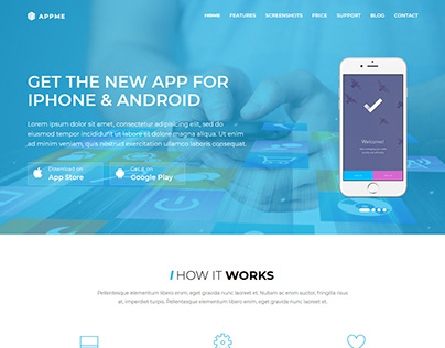 AppMe - App Landing Page WordPress Theme