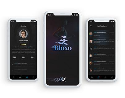 Bloxo App UI/X Design -- Sports Related