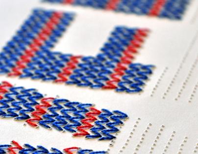 Illustrative typography poster