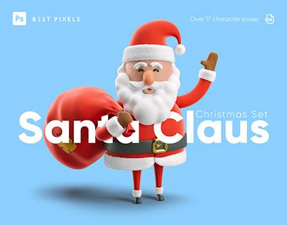 Christmas Set. Santa Claus.