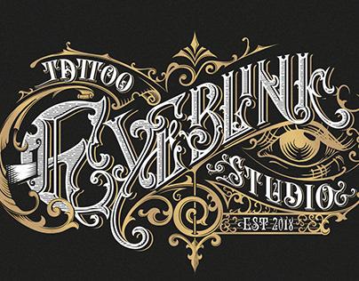 Eyeblink Tattoo Studio logo design