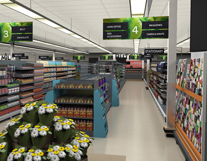 3D Grocery Store Model