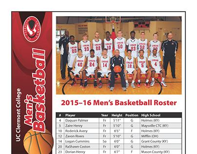 Men's Basketball schedule/roster flyer