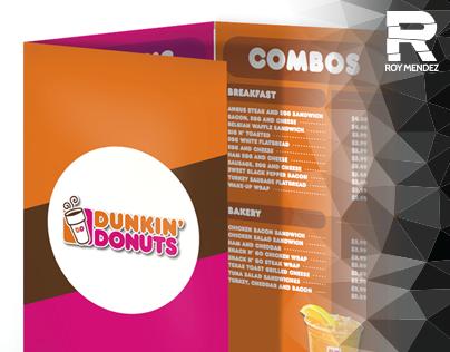 Dunkin' Donuts Menu, Web Ads, & Table Tent