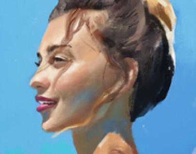 Digital portrait of Regina Todorenko