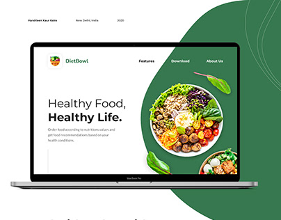 DietBowl Website Design