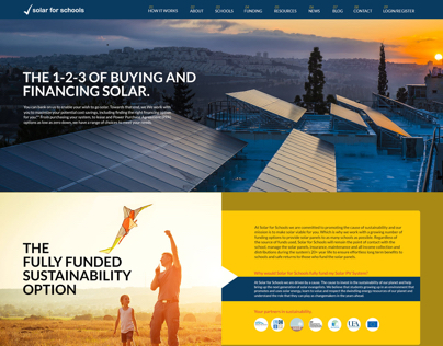 Solarforschools (Website Design)