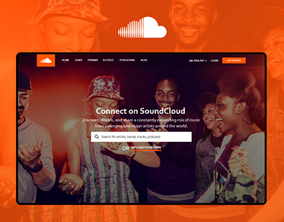 SoundCloud Homepage Redesign UX/UI