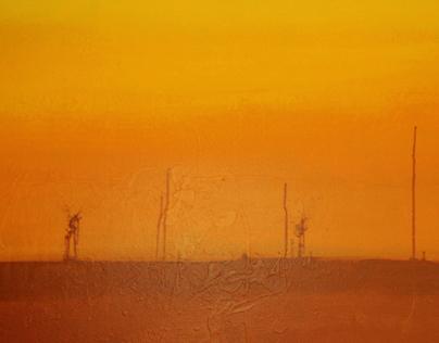 Karoo Sunset: Painting