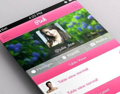 Pink UI Kit