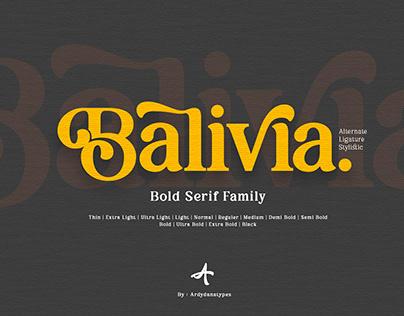 Balivia - Bold Serif Family