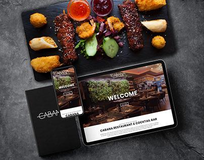 CABANA RESTAURANT WEB DESIGN + PHOTOGRAPHY