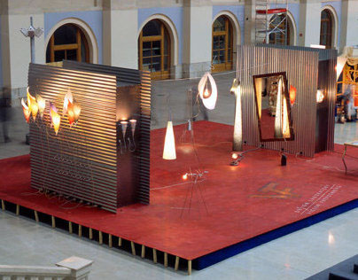 "Art-design installation in ""Seating yard"" 2001"