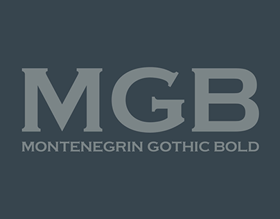 Montenegrin Gothic Bold - Free Font
