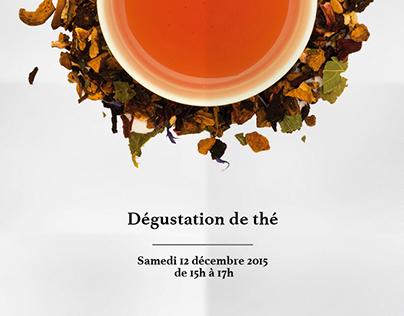 Affiches / flyers - Dégustation de thé