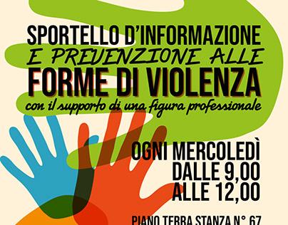 """Flyer Pubblicitario """"Prevenzione forme di violenza"""""""