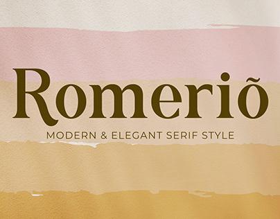 Romerio | Modern & Elegant Serif Style