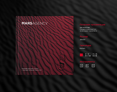 The print presentation of marketing agency