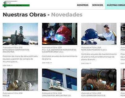 SITIO WEB CON CATÁLOGO DE OBRAS DE INGENIERÍA
