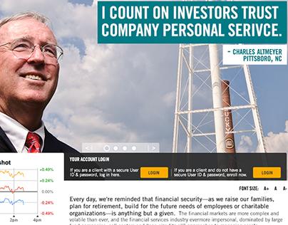 Investors Trust (website design comp)