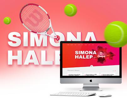 Simona Halep - Web Design, User Interface