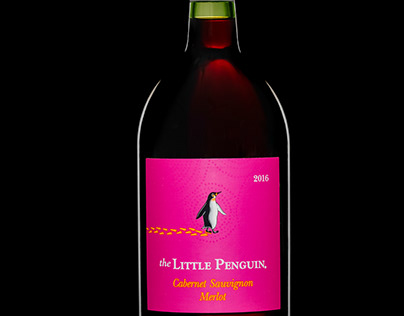 Red Wine Bottle with a glow