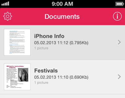 Turbo Scan Application iOS 7 Redesign