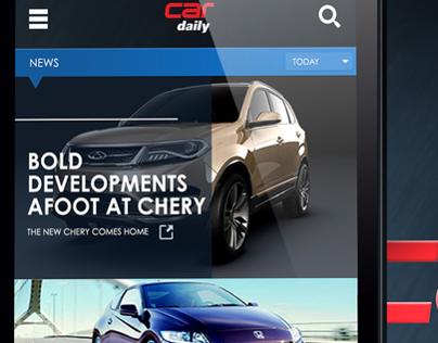 Car Daily app design