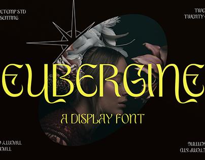 Eubergine - Free Display Font