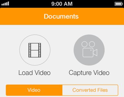 Video to Audio Converter iOS 7 Redesign
