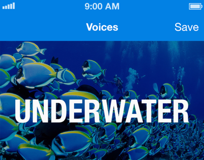 Voice Changing App iOS 7 Redesign