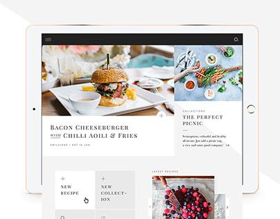 Luxe Recipe App Concept
