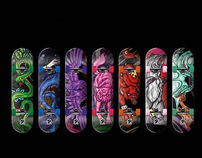 Predator Skateboard Design