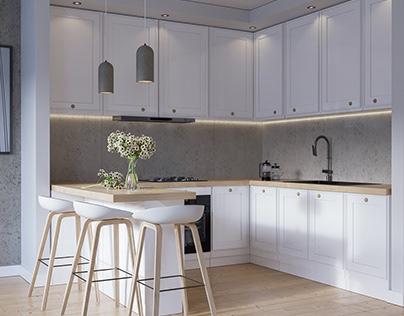 Interior 07 - Scandinavian kitchen