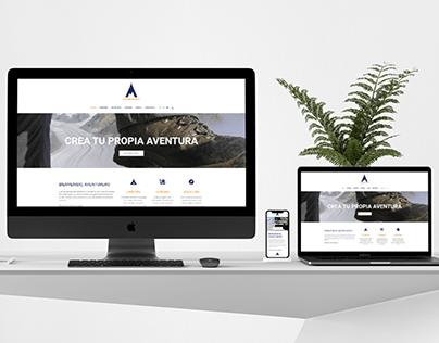 Diseño web Acampamos.com
