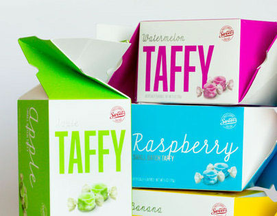 Sweet's Taffy Twist Packaging
