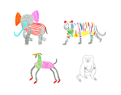 Illustrations for Physika store Moscow