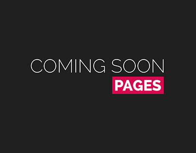 Coming Soon Pages