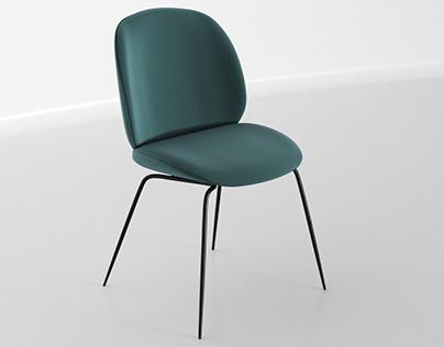 Gubi Beetle chair 3d model