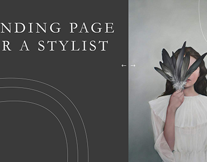LANDING PAGE FOR A STYLIST
