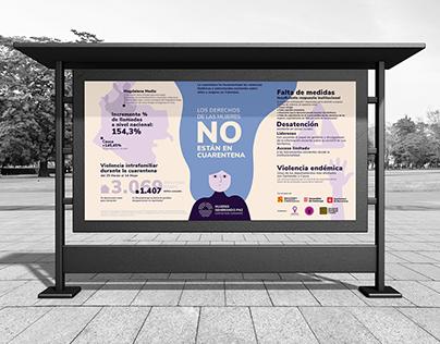 MUJERES SEMBRANDO PAZ. Branding and Infographics