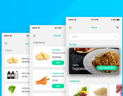 Web & mobile UI design: Grocery app in Justinmind