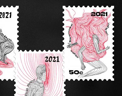 Stamp Design   Triptychs