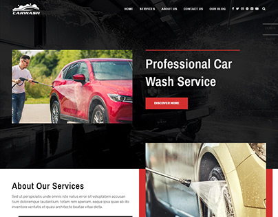Car washing company website