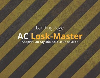 Landing Page for Lock-Master