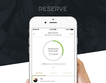 Restaurant Bill Splitting & Payment App | UX, UI | iOS